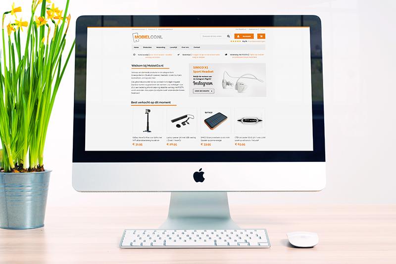Electronica accessoires webshop gemaakt door Zymion